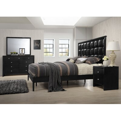 Gloria Platform 4 Piece Bedroom Set Size: Queen