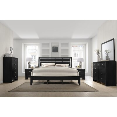 Gloria Platform 6 Piece Bedroom Set Size: King