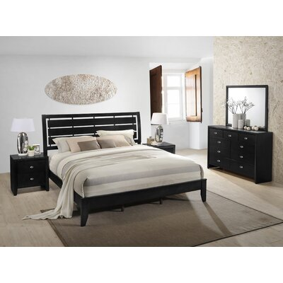 Gloria Panel 5 Piece Bedroom Set Size: Queen