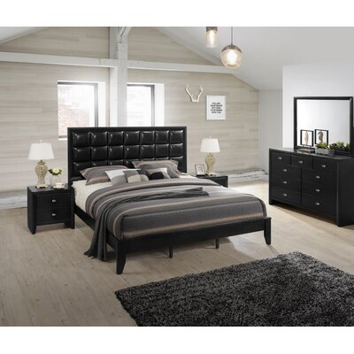 Gloria Platform 5 Piece Bedroom Set Size: King