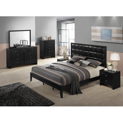 Gloria 6 Piece Bedroom Set Size: Queen