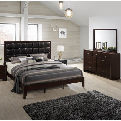Gloria Platform 5 Piece Bedroom Set Size: Queen