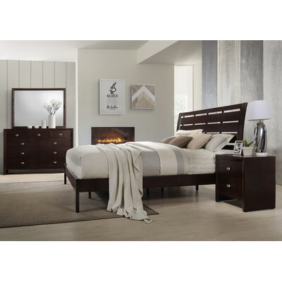 Gloria Panel 4 Piece Bedroom Set Size: Queen