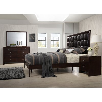 Gloria Platform 4 Piece Bedroom Set Size: King