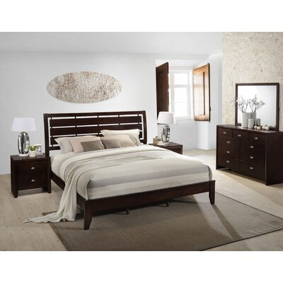 Gloria Panel 5 Piece Bedroom Set Size: King