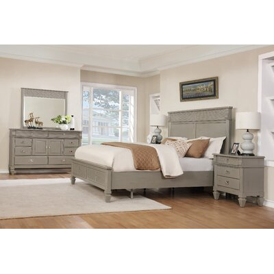 Vasilikos Solid Wood Construction Platform 5 Piece Bedroom Set Size: King