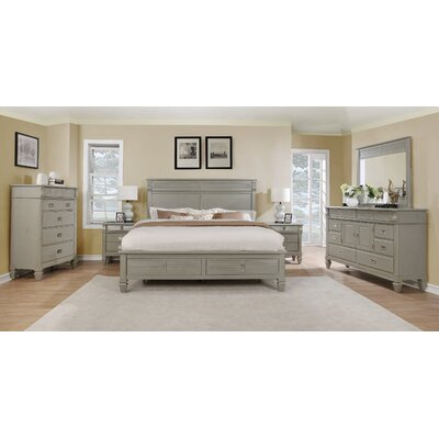 Holland Solid Wood Construction Platform 5 Piece Bedroom Set Size: King