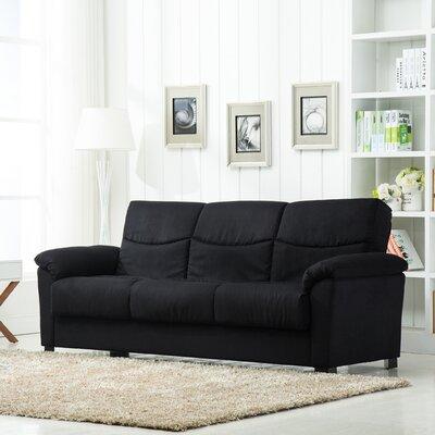 Allbritton Fabric Storage Sleeper Sofa Upholstery: Black