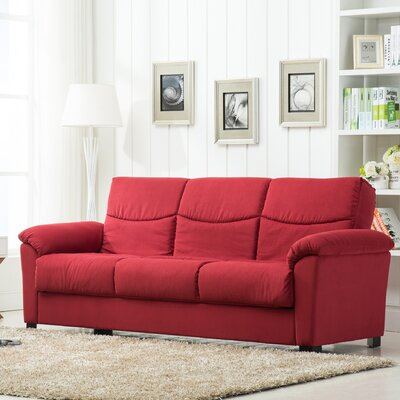 Melisa Fabric Storage Sleeper Sofa Upholstery: Red