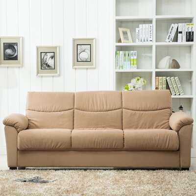 Melisa Fabric Storage Reclining Sleeper Sofa Upholstery: Tan