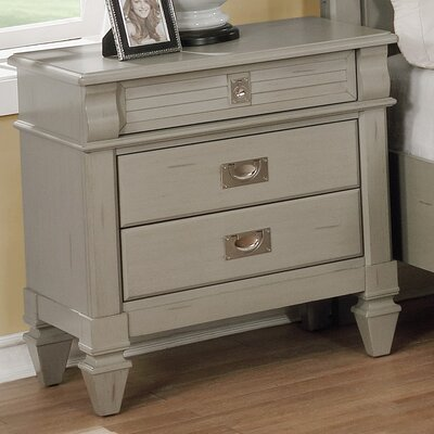 Holland Antique 3 Drawer Night Stand