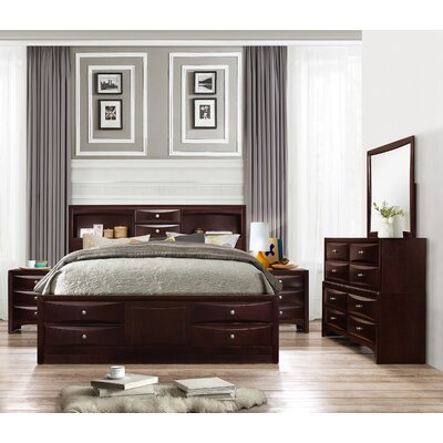 Oreland Platform 5 Piece Espresso Bedroom Set Size: King