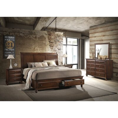 Lehigh Platform 5 Piece Bedroom Set Size: King