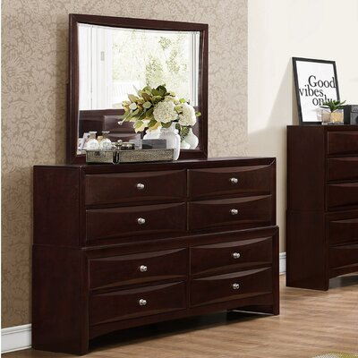 Oreland 8 Drawer Dresser with Mirror