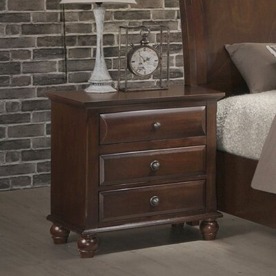 Lehigh 3 Drawer Nightstand