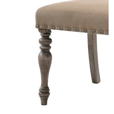Dasher Nail Head Trim Script Printed Upholstered Dining Chair