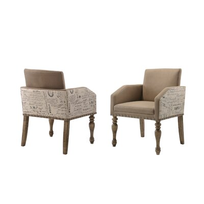 Dasher Script Set of 2 Printed Upholstered Dining Chair