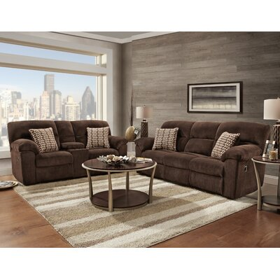 Litherland 2 Piece Living Room Set Upholstery: Brown