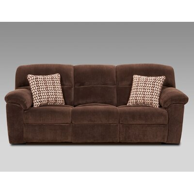 Litherland Reclining Sofa Upholstery: Brown