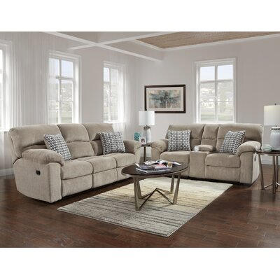 Litherland 2 Piece Living Room Set Upholstery: Taupe