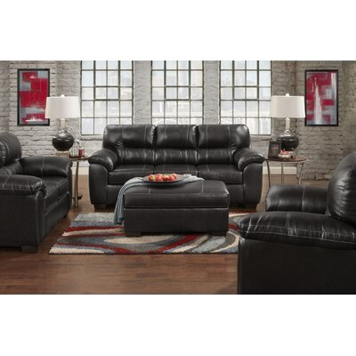 Littleton 2 Piece Living Room Set Upholstery: Black