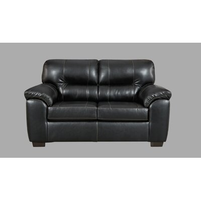 Littleton Loveseat Upholstery: Black