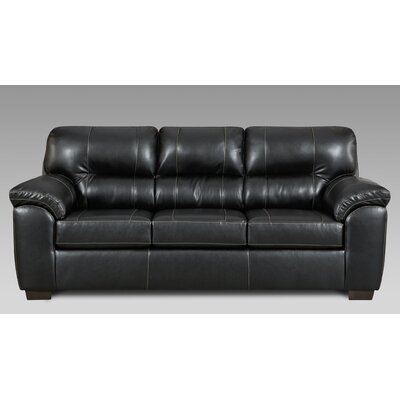 Littleton Reclining Sofa Upholstery: Black