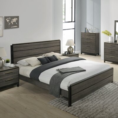 Mandy Panel 4 Piece Bedroom Set Size: King