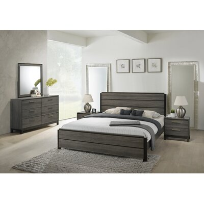 Mandy Panel 5 Piece Bedroom Set Size: King