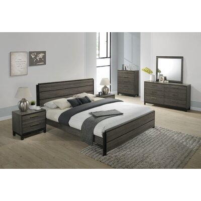 Mandy Panel 6 Piece Bedroom Set Size: King