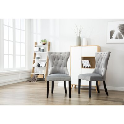 Ottley Tufted Upholstered Dining Chair Upholstery Color: Gray