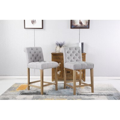 Ottman 24 Bar Stool Upholstery: Gray