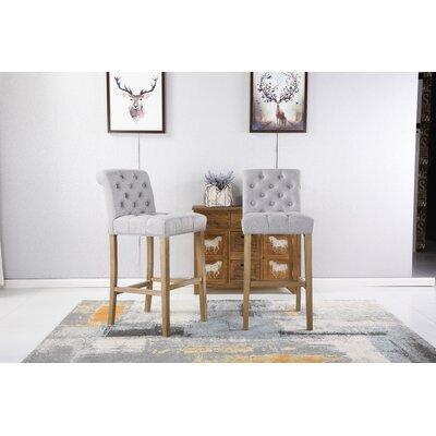 Ottoman 29 Bar Stool Upholstery: Gray