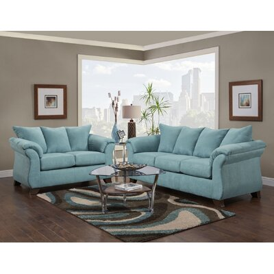 Norris 2 Piece Living Room Set Upholstery: Capri