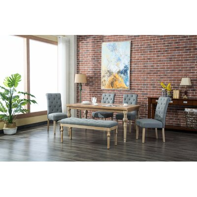 Kenleigh 6 Piece Dining Set Color: Gray
