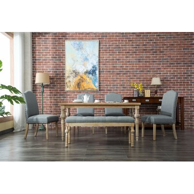 Tessio 6 Piece Dining Set Color: Gray