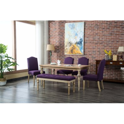 Tessio 6 Piece Dining Set Color: Purple