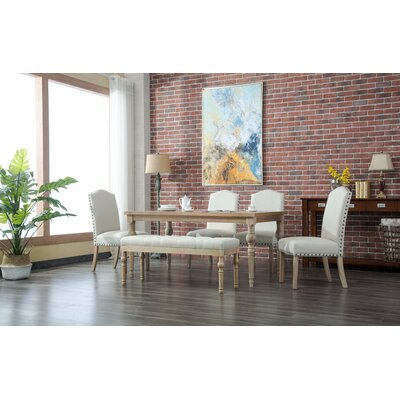 Tessio 6 Piece Dining Set Color: Tan