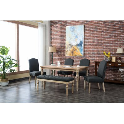 Tessio 6 Piece Dining Set Color: Charcoal