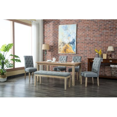 Galsworthy 6 Piece Dining Set Color: Gray