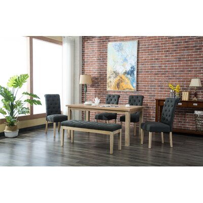 Galsworthy 6 Piece Dining Set Color: Charcoal