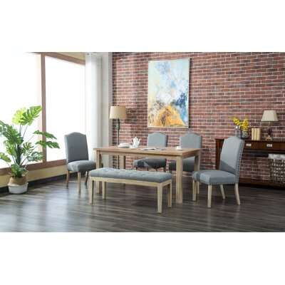 Hannam 6 Piece Dining Set Color: Gray