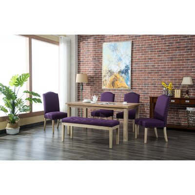 Hannam 6 Piece Dining Set Color: Purple