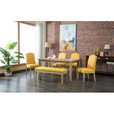 Hannam 6 Piece Dining Set Color: Yellow