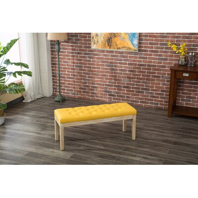 Hillcroft Wood Bench Color: Yellow