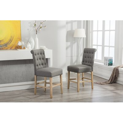 Claro Upholstered Dining Chair Upholstery Color: Gray