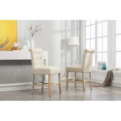 Claro Upholstered Dining Chair Upholstery Color: Tan