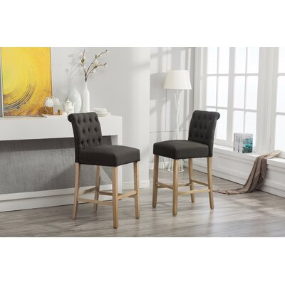 Claro 30.25 Bar Stool Upholstery: Charcoal