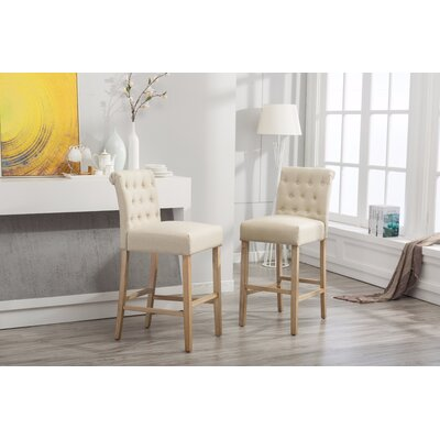 Claro 30.25 Bar Stool Upholstery: Tan