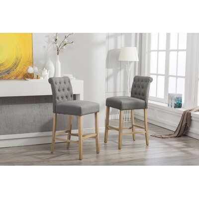 Claro 30.25 Bar Stool Upholstery: Gray